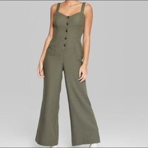 Wild Fable Green Jumpsuit